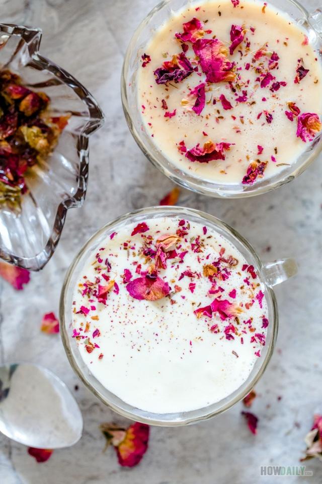 Rose caramel tea cups