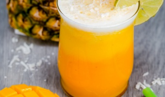 Tropical Mango Pina Colada Smoothie