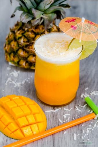 Tropical Mango Pina Colada smoothie