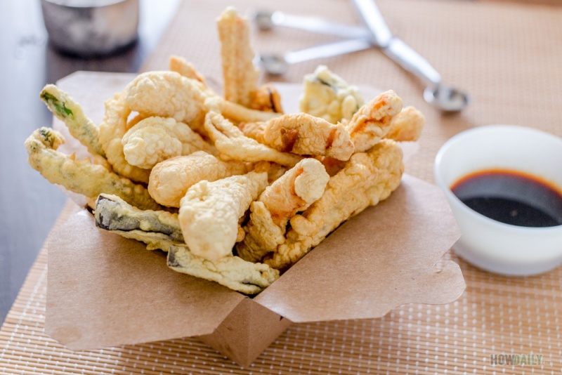 Crispy tempura batter