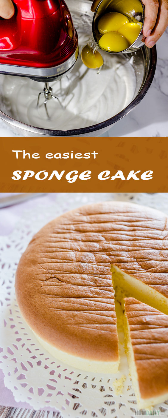 Making perfect Gateaux base with easy recipe for sponge cake