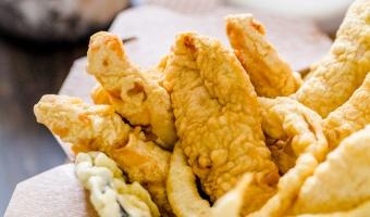 Japanese tempura and sauce