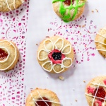 Holiday Fun: Strawberry Orange Thumbprint cookies (Egg Free Shortbread Method)