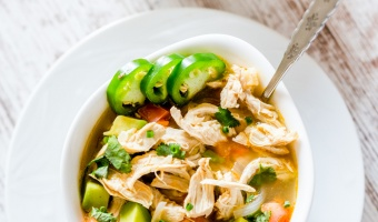 Fresh Chicken Avocado Lime Soup