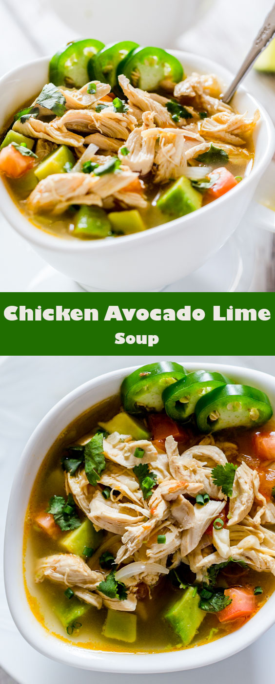 Easy and Fresh Chicken Avocado Lime Soup