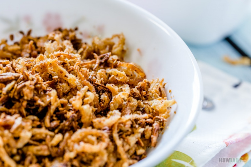 Crispy French fried onion