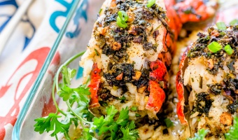 Lobster Stuffed with Crab Meat