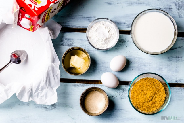 Fried milk ingredients