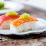 Japanese nigiri sushi