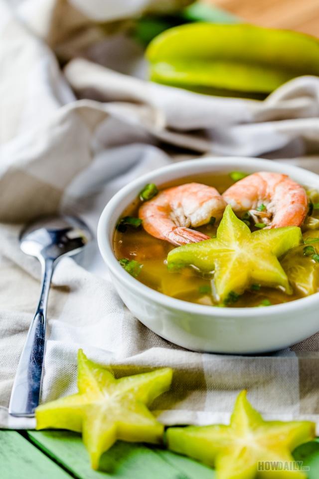 Asian star fruit soup