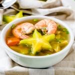Recipe for Shrimp sour soup with star fruit