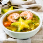 Recipe for Shrimp sour soup with star fruit