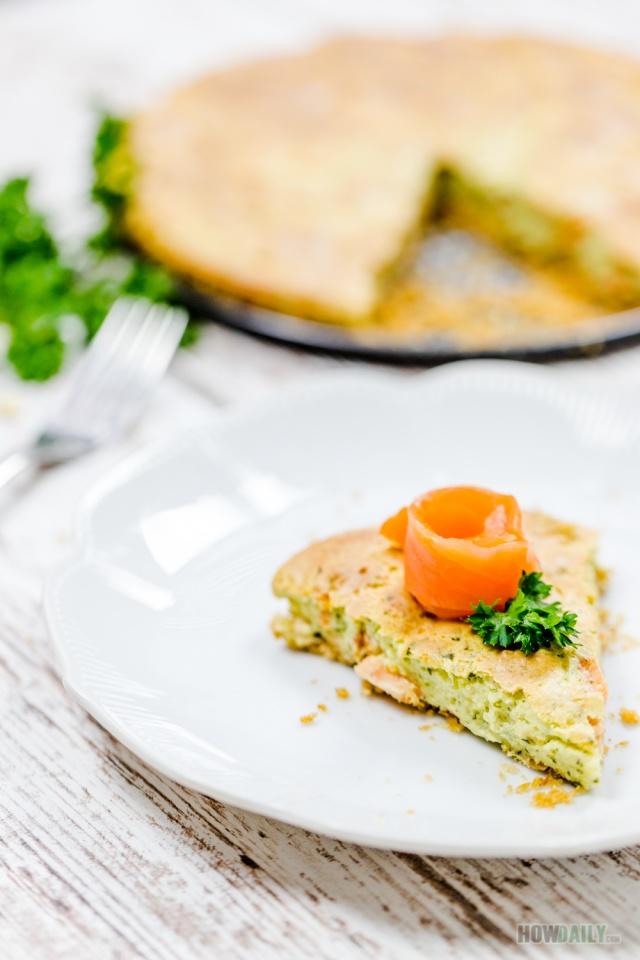 Smoked-salmon brie cheesecake