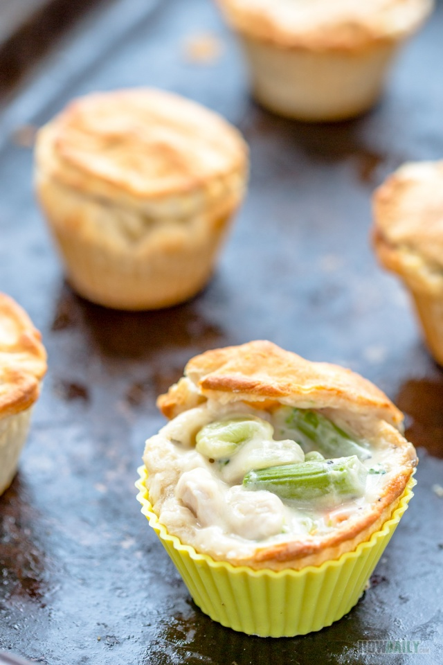 Tasty mini chicken pot pies