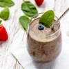 Dairy-free Berries Spinach Smoothie: Hyper Power that is Delicious