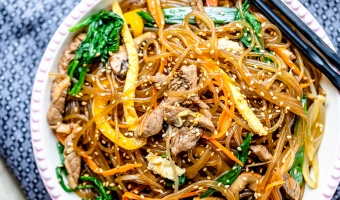 Japchae: Korean Mixed Glass Noodle (Gluten-free)