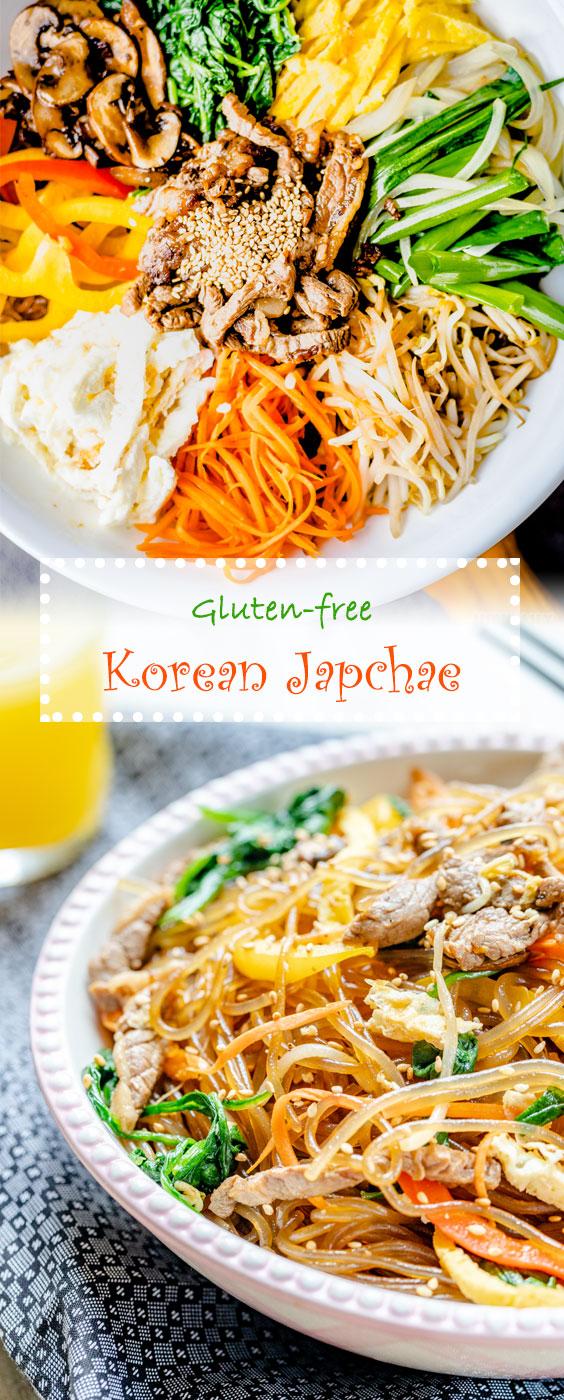 Korean Japchae Recipe - Mixed Glass Noodle on HowDaily.com