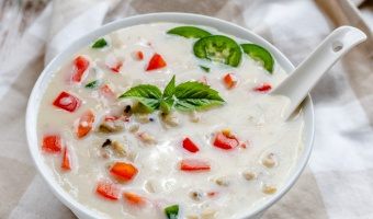 Coconut clam chowder with lemongrass