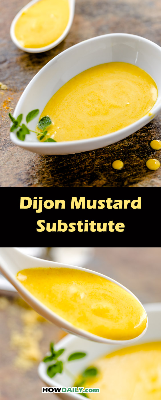 Make your own Dijon mustard with similar sweet-tangy and spicy taste | #Recipe by HowDaily.com
