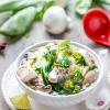 Vegan Baby Bok Choy Mushroom Soup with Tofu
