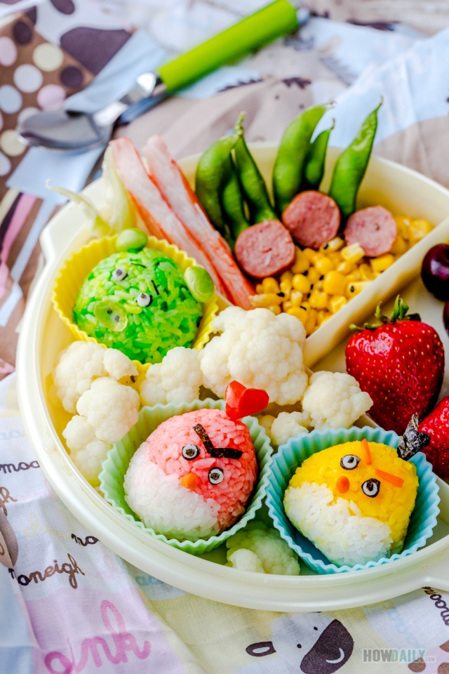 Angry bird onigiri bento lunch box