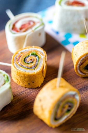 Italian Pinwheels with Cream Cheese & Avocado Variation – Easy Party Appetizer