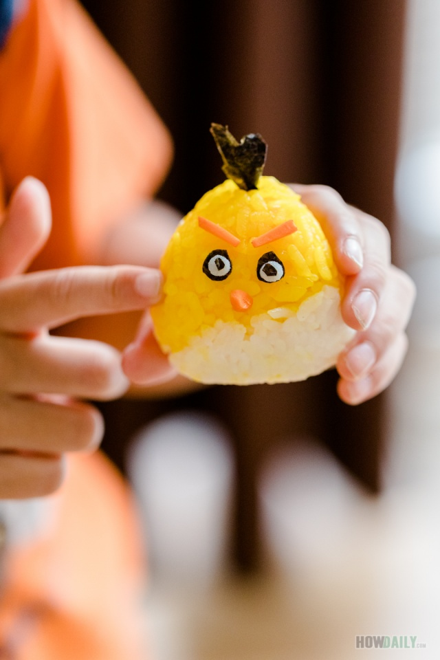 Angry birds onigiri rice balls for kids