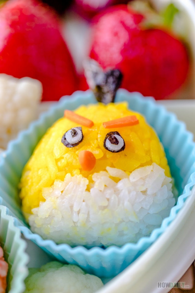 Yellow bird rice ball