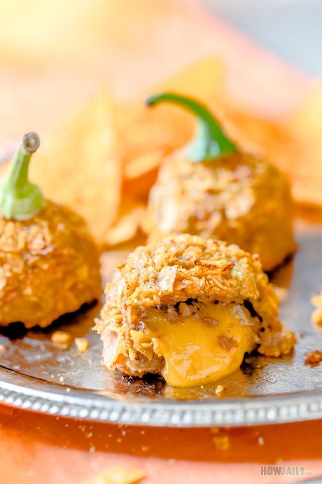 Beef taco, pico de gallo and hot oozing cheddar