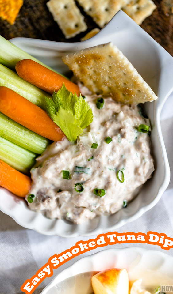 Simple smoked tuna dip with mayonnaise and a vast of spice and herbs