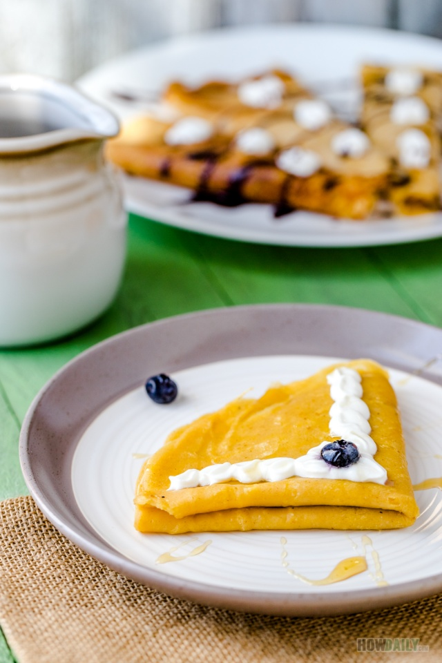 Spices Cinnamon Pumpkin Crepes Recipe by How Daily