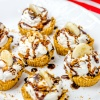 Mini Banana Cream Pies with Graham Cracker Crust & Toasted Coconut