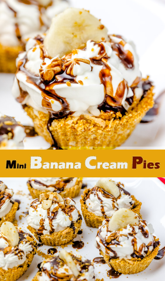 Creamy and Flavorful Recipe for Mini Banana Cream Pies