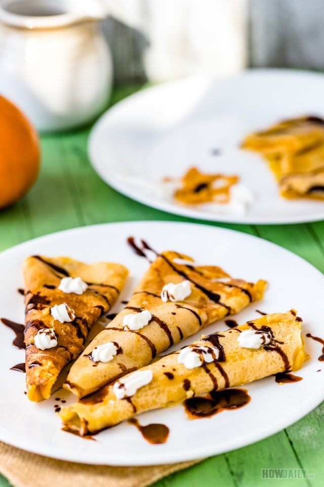 Pumpkin crepes