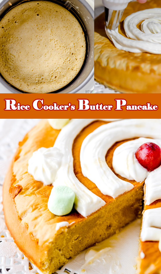 Recipe for Rice cooker's Butter Pancake