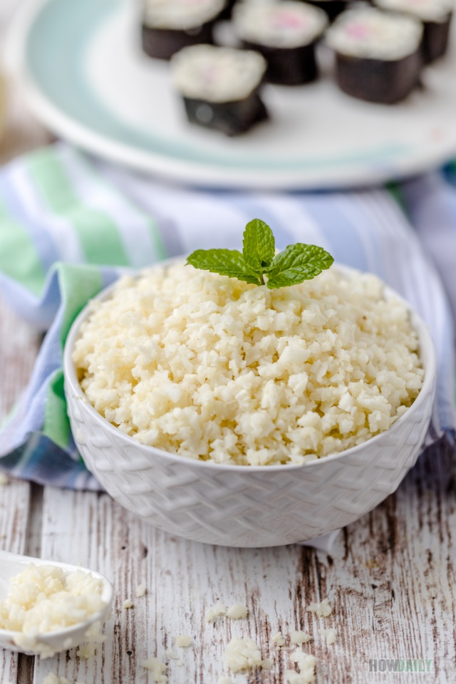 Cauliflower rice recipe by How Daily