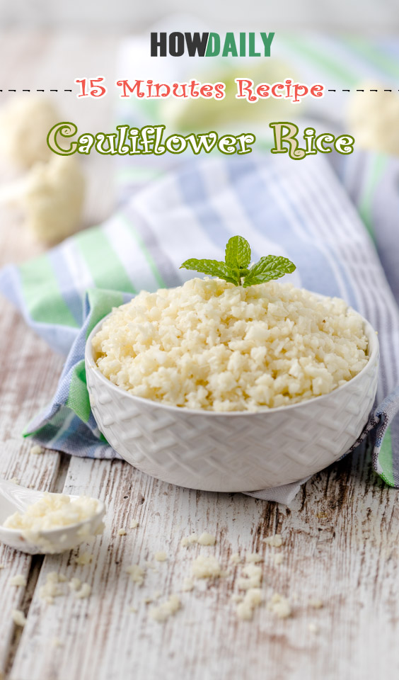 Low-Carb and Gluten Free Recipe for Cauliflower Rice