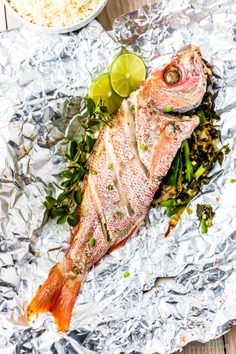 Oven Baked Whole Red Snapper