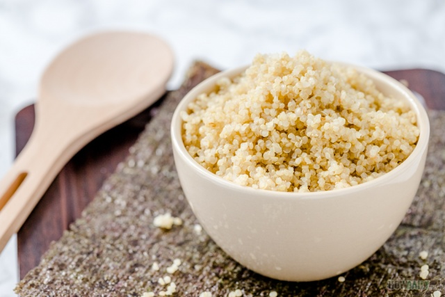 Seasoned Quinoa for Sushi