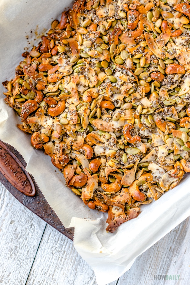 Baked Coconut Clusters with Seeds & Nuts