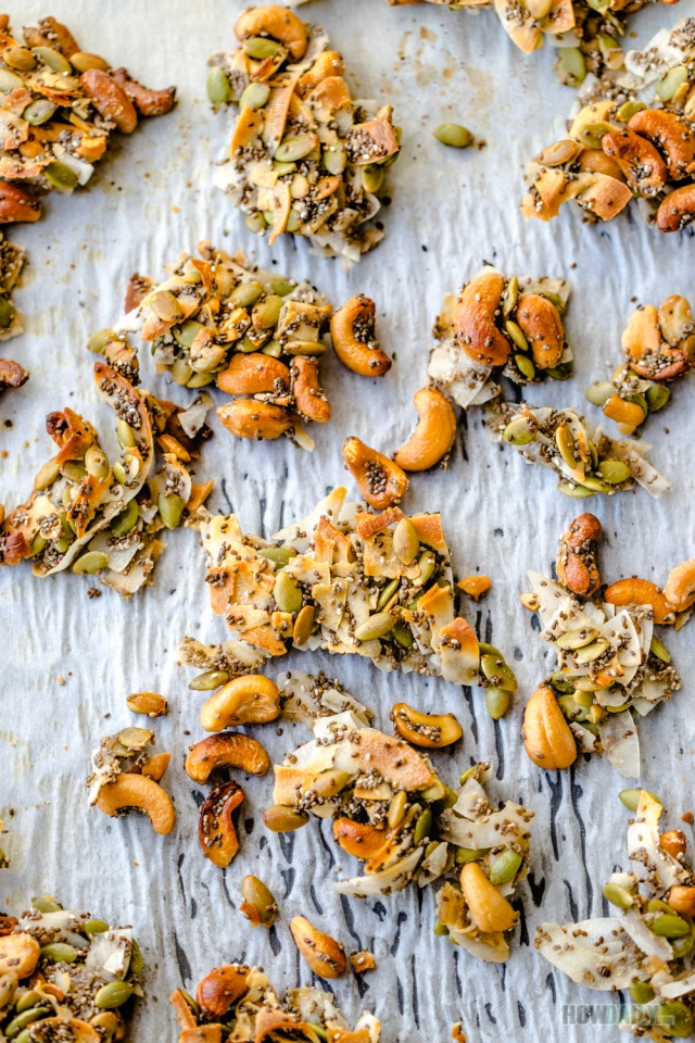 Coconut clusters with super seeds and nuts