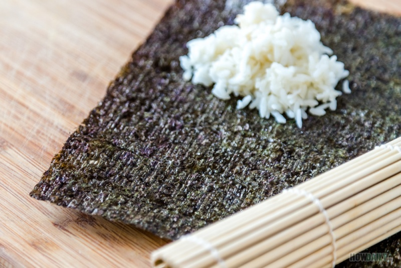 Nori sheet and rice