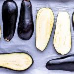 Baking eggplant