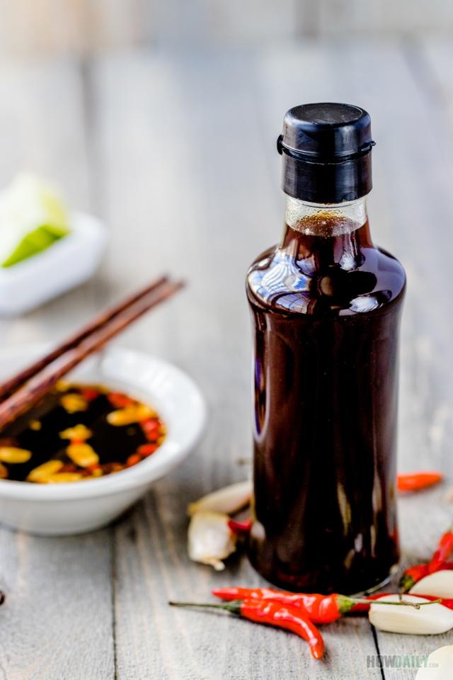 Homemade fish sauce bottle