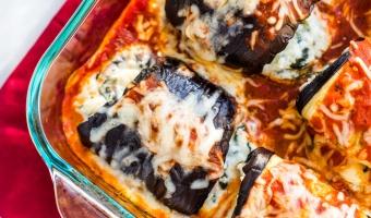 Oven-Baked Skinny Eggplant Rollatini