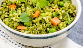Vegetarian fresh green fried rice