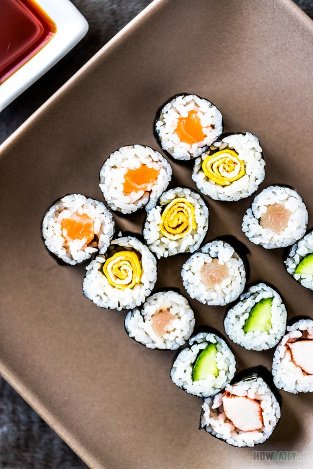 Hosomaki roll recipe by How Daily