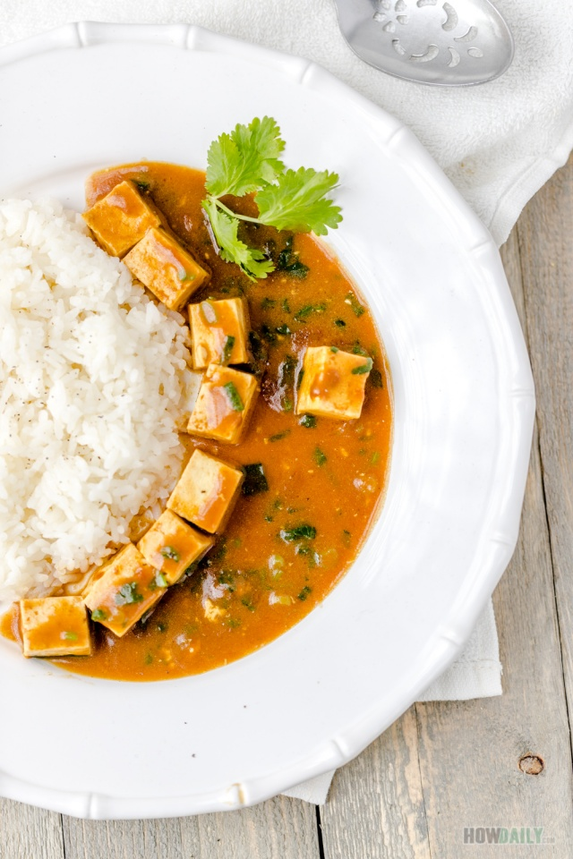 Vegan tofu curry