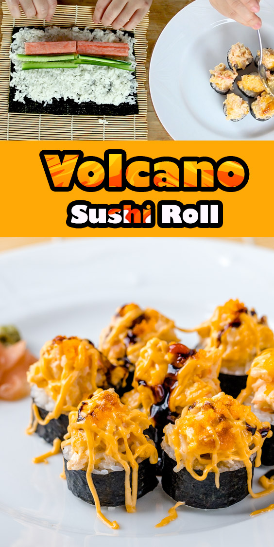 Recipe for volcano sushi roll