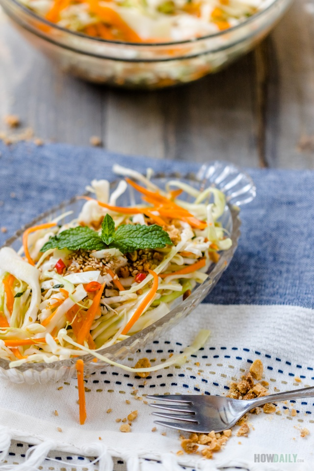 Asian Fusion Cabbage salad
